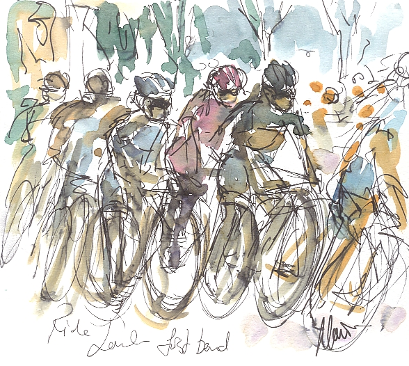 Maxine Dodd, painting, cycling