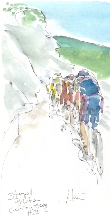 Maxine Dodd, Peloton climbing the hill