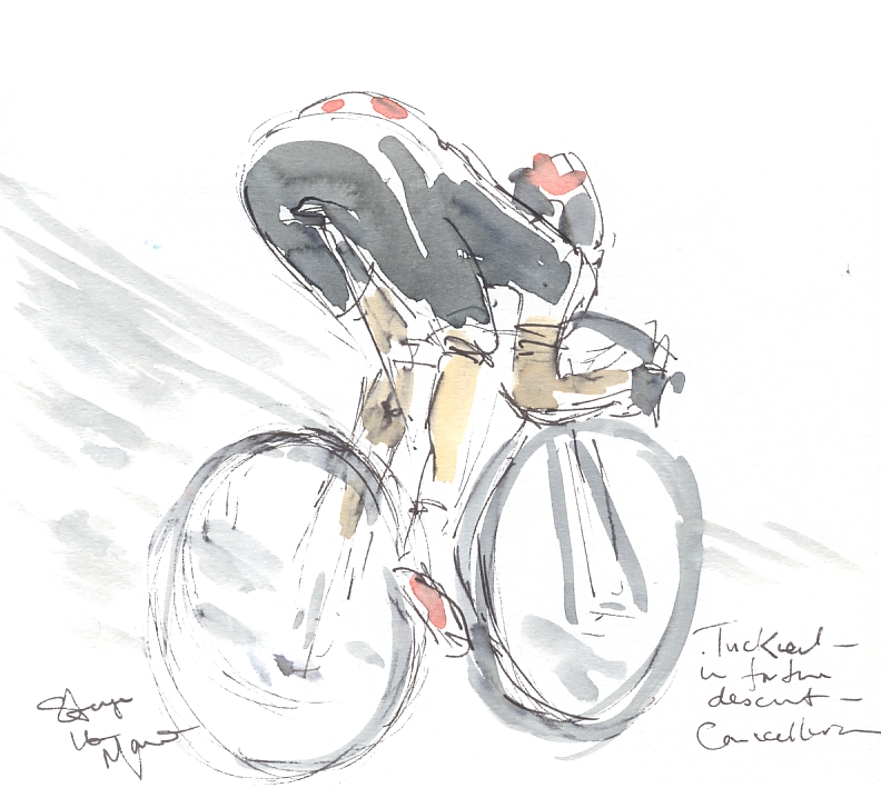 Maxine Dodd, Cancellara descends