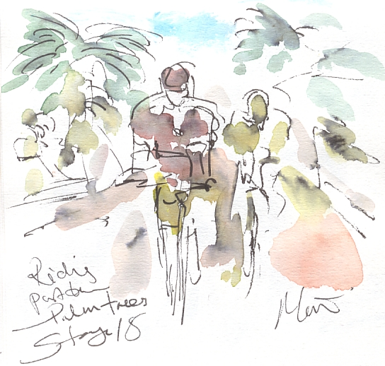 Maxine Dodd, Riding past the palm trees