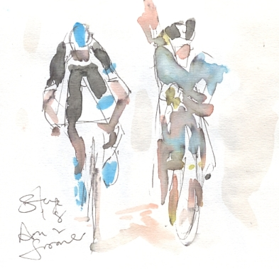 Aru and Froome