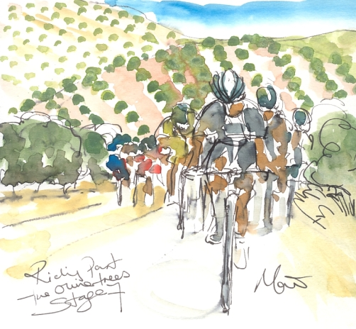 Maxine Dodd, Riding past the olive trees