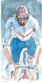 Bradley Wiggins at the start