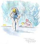 Chris Froome drags himself up to win! by Maxine Dodd, SOLD