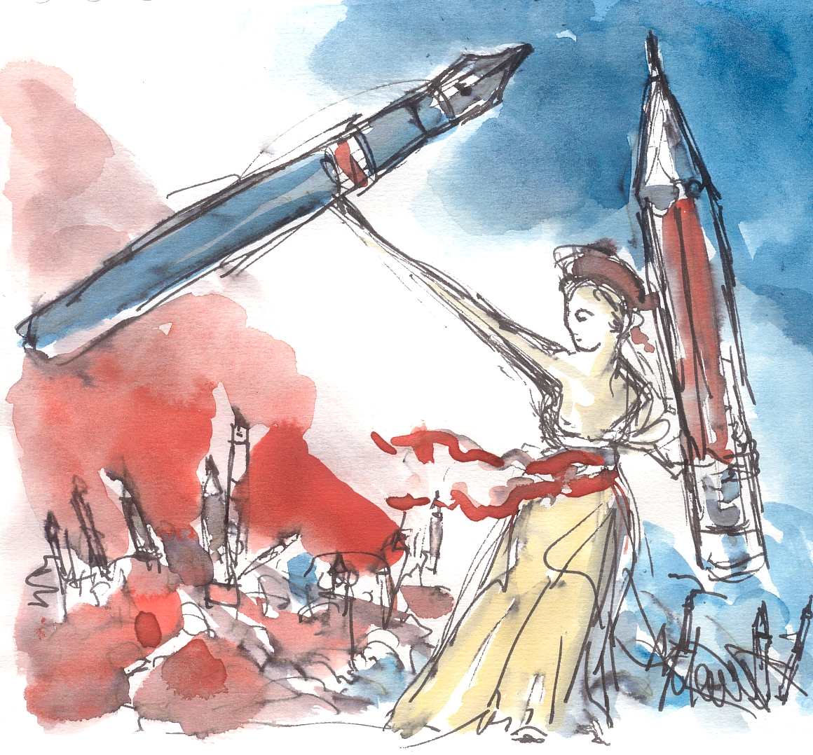 Maxine Dodd: Je suis Charlie: pick up a pencil
