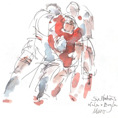 Wales vs England: Tackle that man!