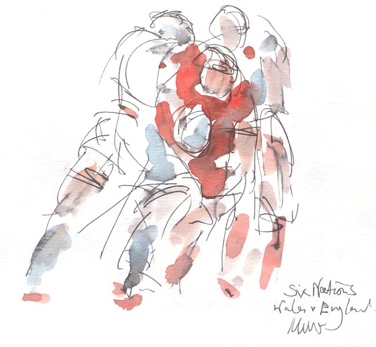 Wales vs England: Tackle that man!