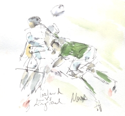 In for the tackle, Ireland vs England