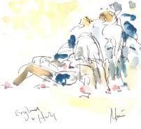 Man down, England v Italy