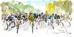 Heading for Holmfirth, by Maxine Dodd