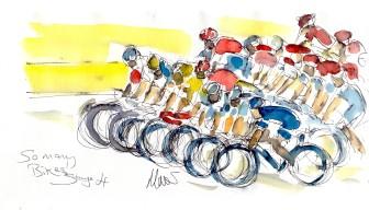 So many bikes! by Maxine Dodd
