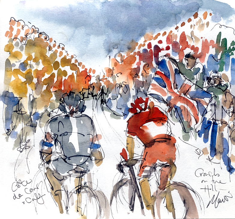 Crowds on the Hill, Cote de Cow and Calf, by Maxine Dodd