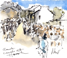 Great crowds at Haworth, by Maxine Dodd