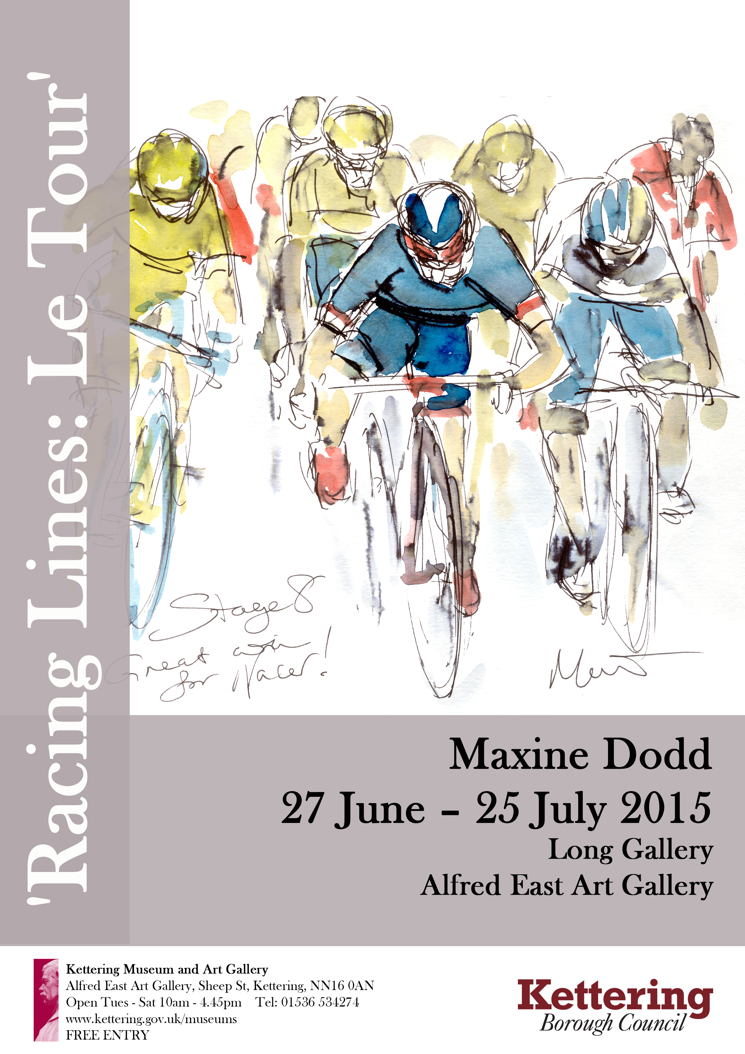 Maxine Dodd 'Racing Lines: Le Tour' Exhibtion