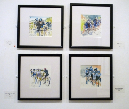 A group of four paintings