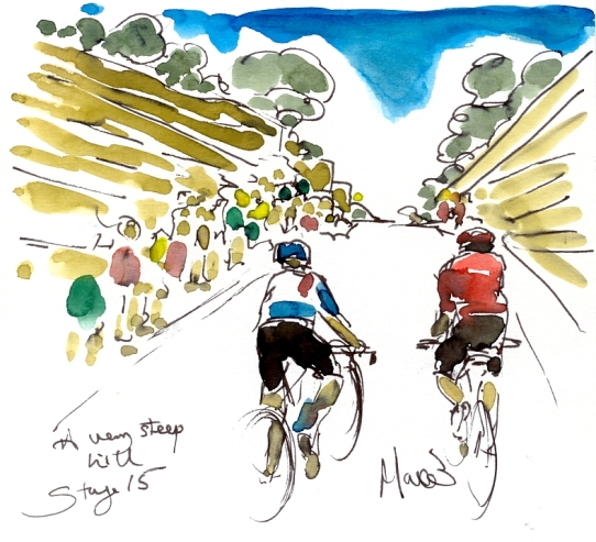 SOLD - A very steep hill, by Maxine Dodd SOLD