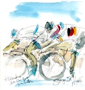 Heads down for the win, by Maxine Dodd, SOLD