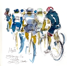 Peloton, steady climb, by Maxine Dodd, SOLD