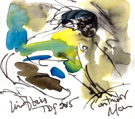 Contador, In the blocks, TDF 2015, by Maxine Dodd