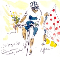 Quintana breaks early, Stage 20, by Maxine Dodd