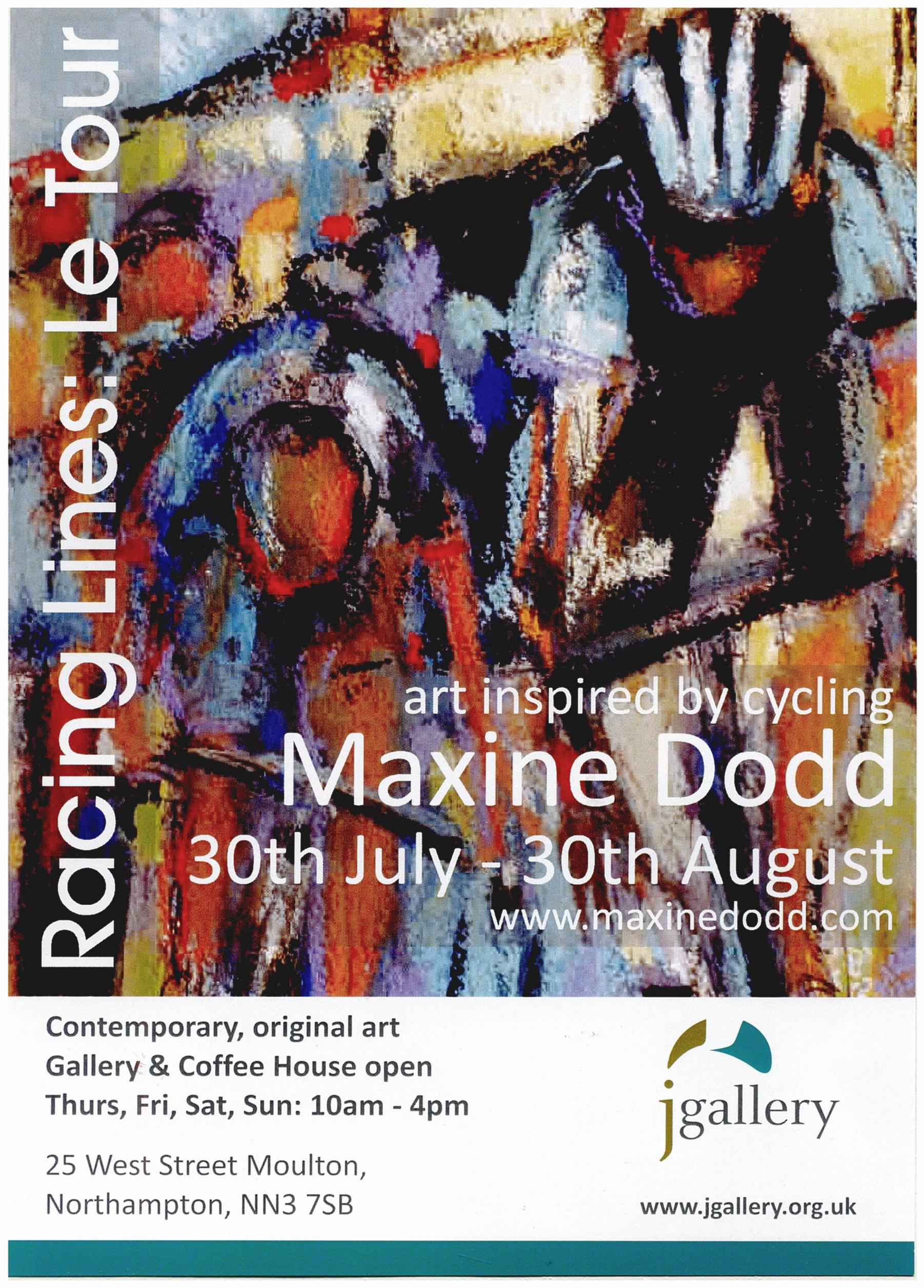 Maxine Dodd, 'Racing Lines: Le Tour' exhibition