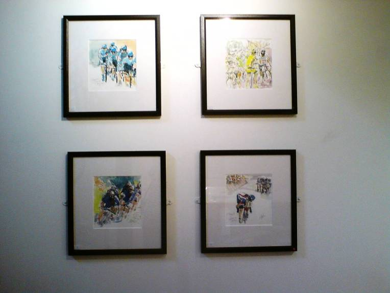 Four paintings