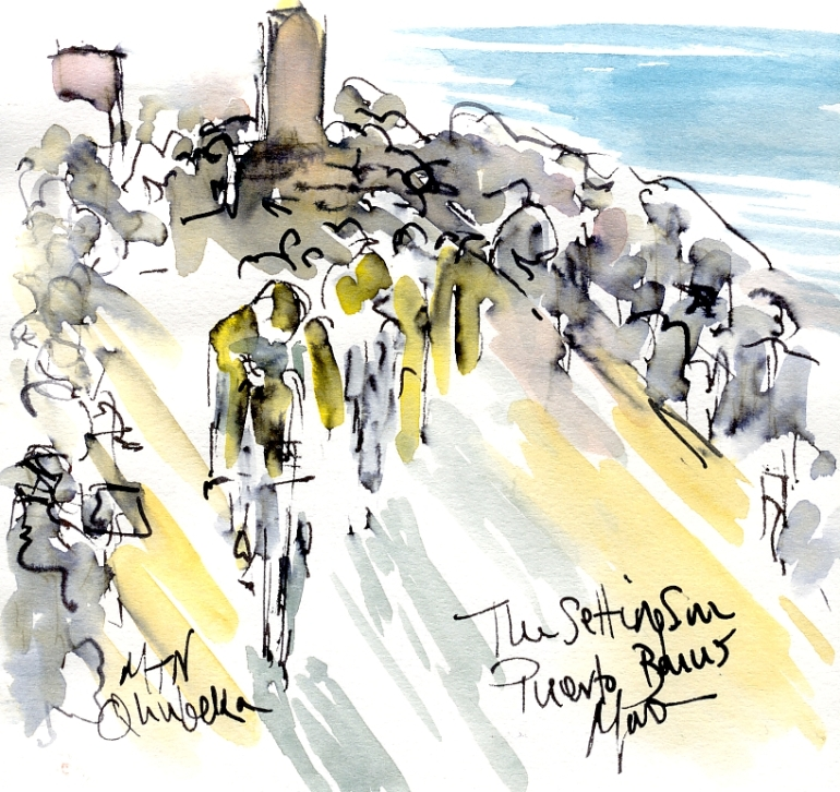 The setting sun, Puerto Banus, Stage 1, by Maxine Dodd
