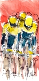 Cycling art, Lotto Jumbo, Stage 1, by Maxine Dodd