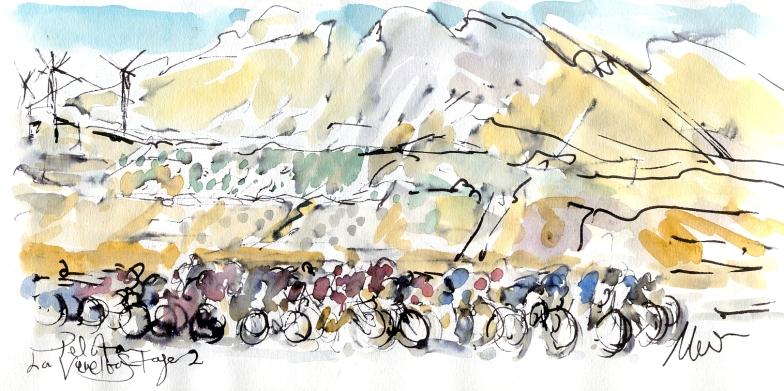 La Vuelta, Stage 2, by Maxine Dodd