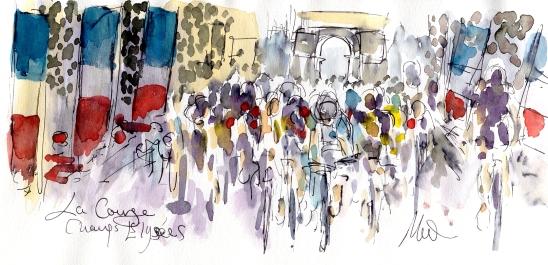 La Course, Champs-Élysées, by Maxine Dodd
