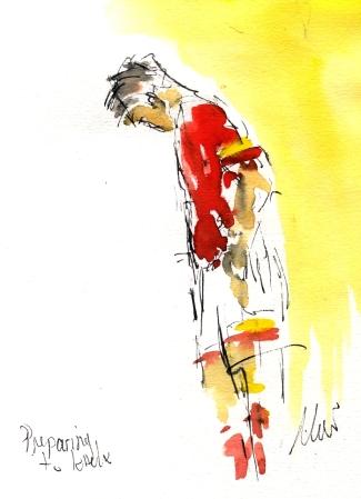 Preparing to kick, by Maxine Dodd