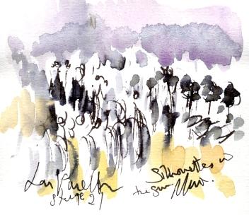 Silhouettes in the sun, La Vuelta, Stage 21 by Maxine Dodd