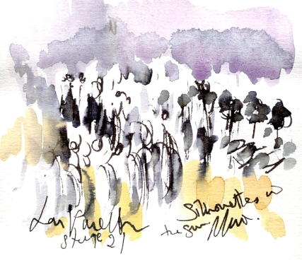 Silhouettes in the sun, La Vuelta, Stage 21 by Maxine Dodd