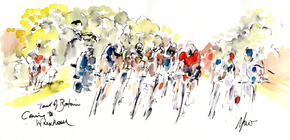 Coming to Wrexham, Tour of Britain, Stage 1, by Maxine Dodd