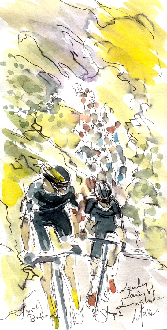 Leafy lanes of Lancashire, Stage 2, Tour of Britain, by Maxine Dodd
