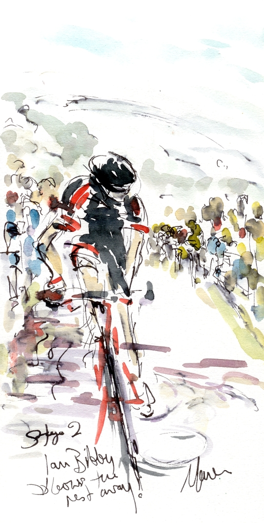 Ian Bibby blows the rest away! Tour of Britain, Stage 2, by Maxine Dodd