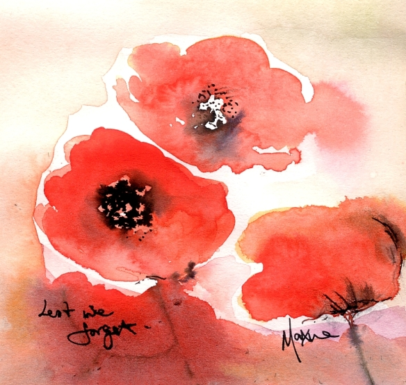 Lest we forget - Poppies for Remembrance