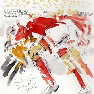 Six Nations - England vs Wales, Pushing on, by Maxine Dodd