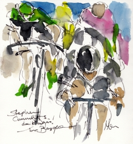Cycling Art, Stephen Cummings does it again! Tour of the Basque Country by Maxine Dodd