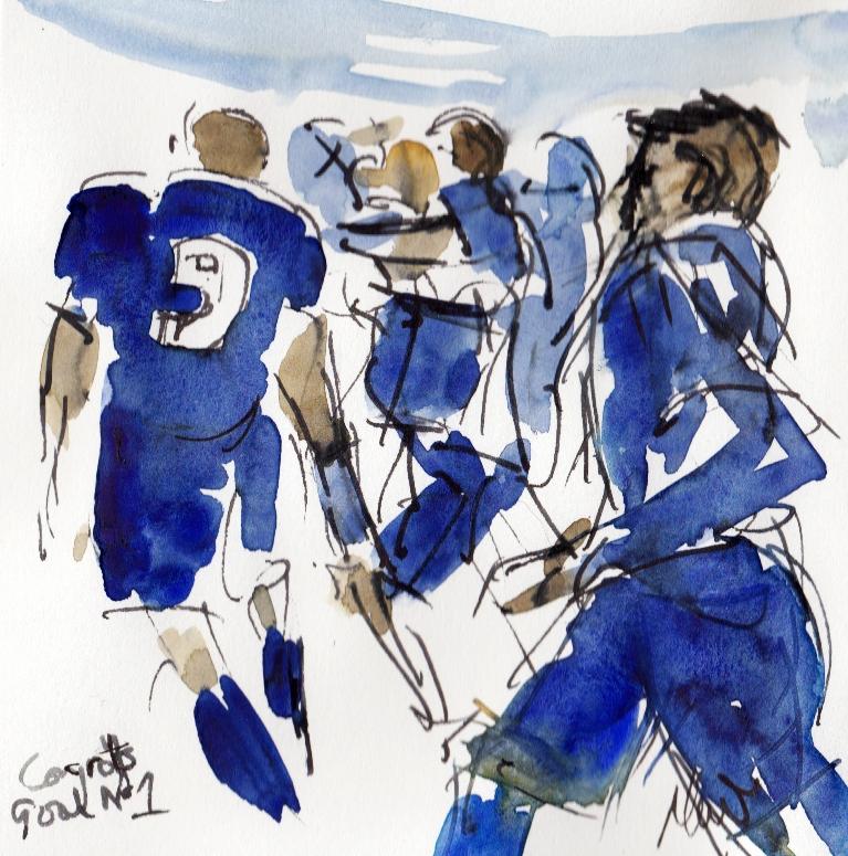 Leicester City, Celebrating goal no 1!