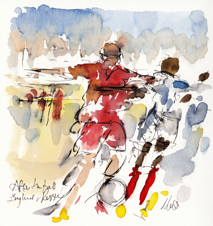 Football art, Maxine Dodd, England, Russia,