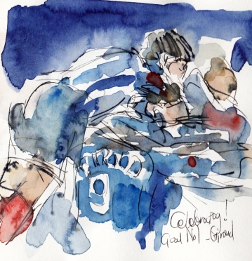 Football art, France, Romania, Giroud