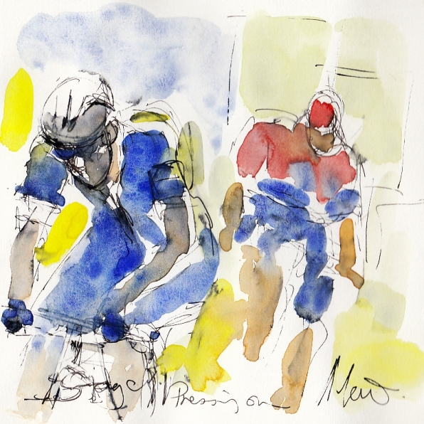 Tour de France, art, Maxine Dodd