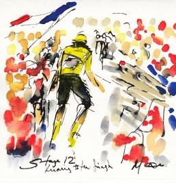 Tour de France, art, cycling, Maxine Dodd