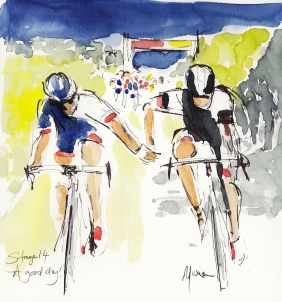 Cycling, Tour de France, art, Maxine Dodd