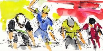 Tour de France, cycling art, Maxine Dodd