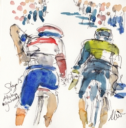 Tour de France, art, cycling, Maxine Dodd