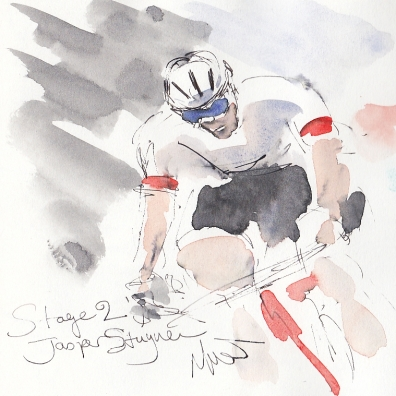 Tour de France, art, Jasper Stuyven