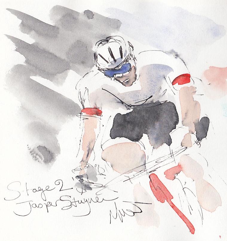 Tour de France, art, Jasper Stuyven