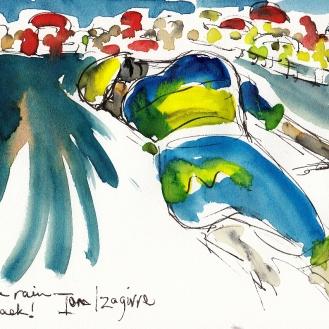 Tour de France, cycling, art, Maxine Dodd
